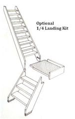 Cottage Space Saver Stair Kit Quarter Landing Kit