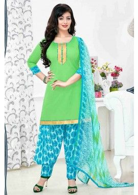 Green Cotton Patiala Salwar Kameez, - £26.00, #IndianFashion #UK #DesignerDresses #Shopkund