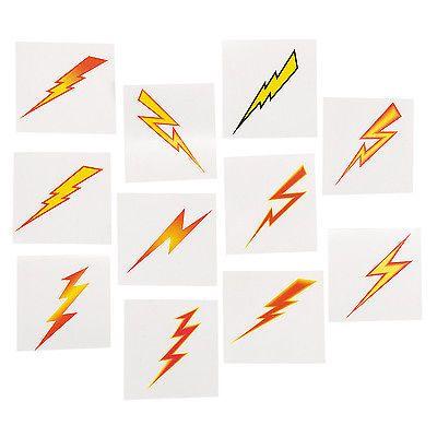 SUPERHERO-PARTY-FAVOUR-Lightning-Bolt-Temporary-Tattoo-pack-of-36