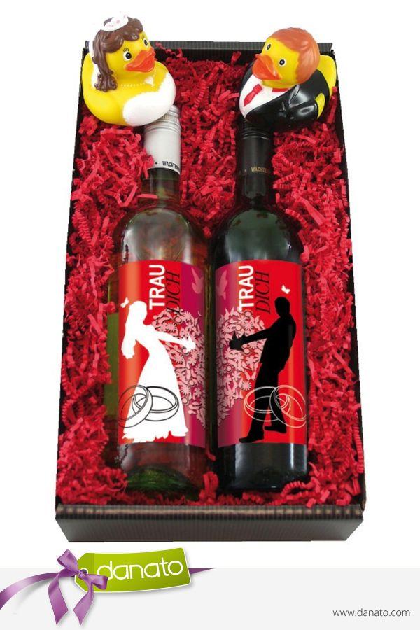 Ein süffiges Hochzeitsgeschenk für alle frisch Verheirateten #danato #hochzeit #hochzeitsgeschenk #geschenkset