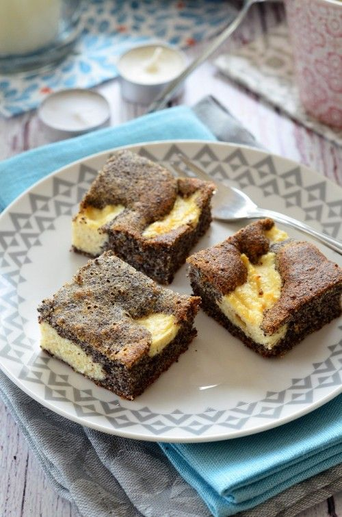 Mákos-túrós foltos szelet recept