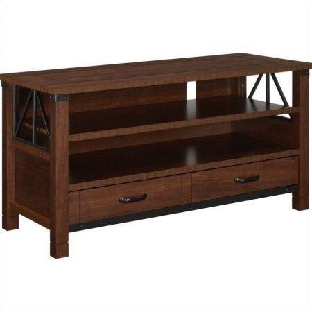 Altra Furniture Buchannan Ridge Dark Cherry TV Stand for TVs up to 50 inch, Red