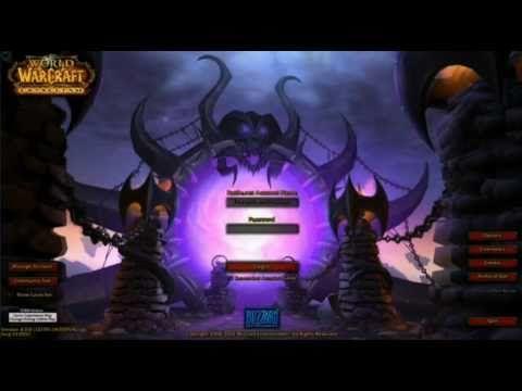BlizzCon 2010 - World of Warcraft Cataclysm - Rejected Portal Login Screen #worldofwarcraft #blizzard #Hearthstone #wow #Warcraft #BlizzardCS #gaming
