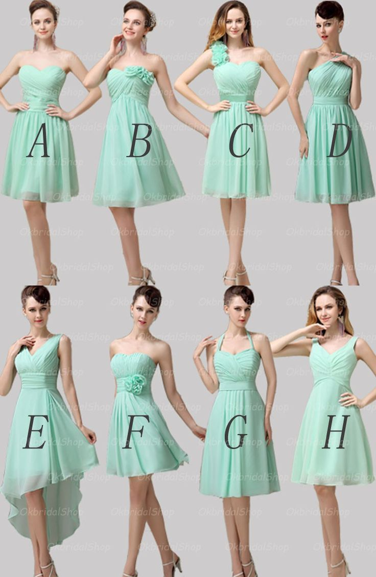 cute variations on the mint bridesmaid dress