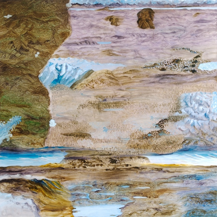 Barbara Tuck, Unfurnished Eye, 2009, Oil on board, 750 x 750mm