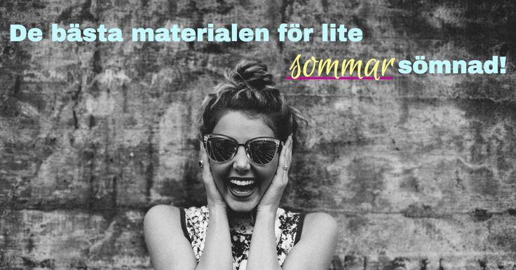 Vi varvar upp inför sommaren och planerar våra sommar sömnadsprojekt. Detta blogginlägg hjälper dig att komma igång! https://labelsandribbon.se/blog/de-basta-materialen-lite-sommar-somnad  #labelsandribbon #thelabeleffect #sommarsömnad #sommarmaterial #skaparglädje #diy