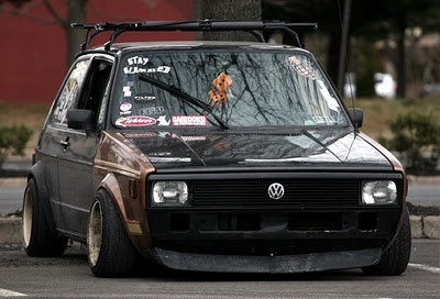 Golf Mk1 gti with american nose.