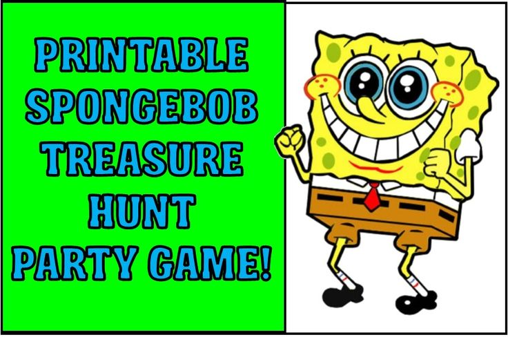 This Spongebob treasure hunt is east to print and play at