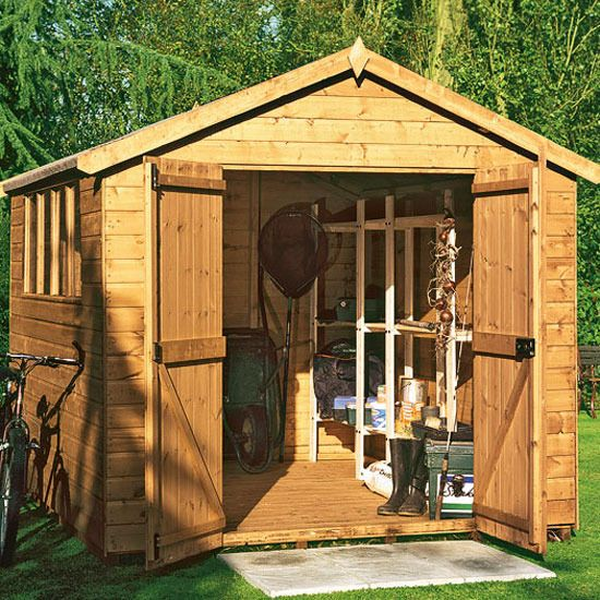 Garden sheds decorated garden shed ideas better homes for Garden shed tesco