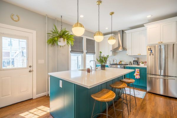 Converting A Two Family Into A One Family House In New Jersey Teal Kitchen Kitchen Remodel Cost Kitchen Renovation