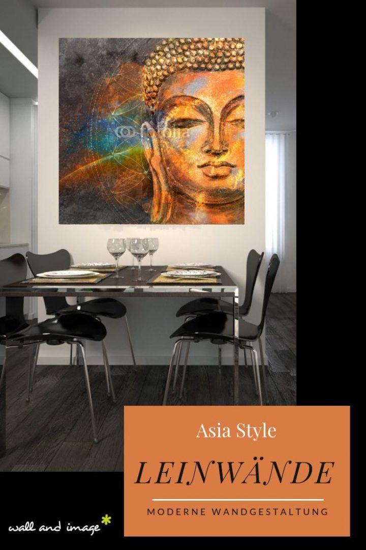 Asiatische Wandgestaltung in gold. Unsere Leinwandbilder im angesagten Asia Look sind ein echter Blickfang an der Wand. Ob als Deko im Wohnzimmer, im …