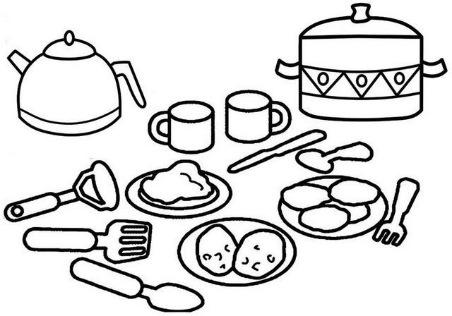 Cooking Utensils Chef Coloring Pages Coloring Pages For Boys Coloring Pages For Girls