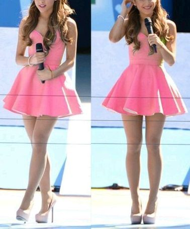 Petite robe rose bonbon mignonne et fraiche qui donne ce coté Baby Doll  #Quelle jeune star porte ça ?  #FashionisInside