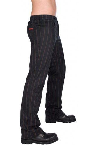 aderlass mens steampunk pinstripe jeans bekleidung gothic