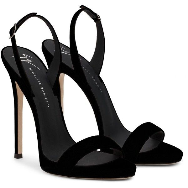 Giuseppe Zanotti Sophie ($625) ❤ liked on Polyvore featuring shoes, sandals, high heel shoes, buckle strap sandals, high heel platform shoes, platform sandals and black suede sandals