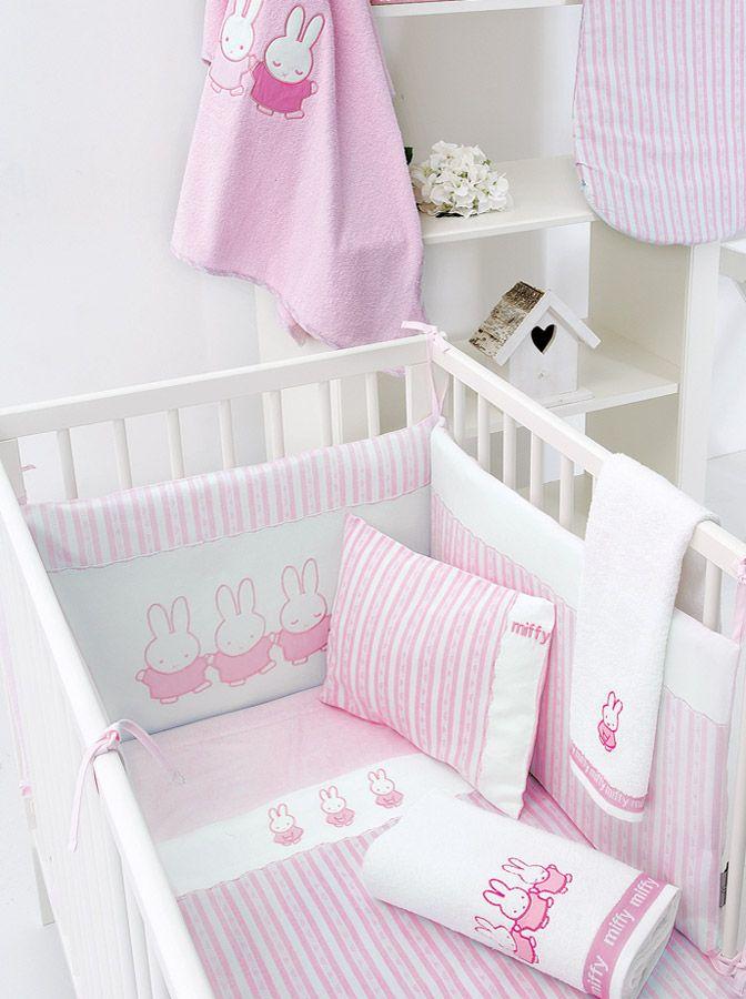 Σεντόνι Miffy σετ - Pink (Ροζ) - Miffy