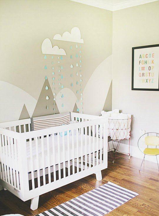 decoration montagne taupe chambre enfant