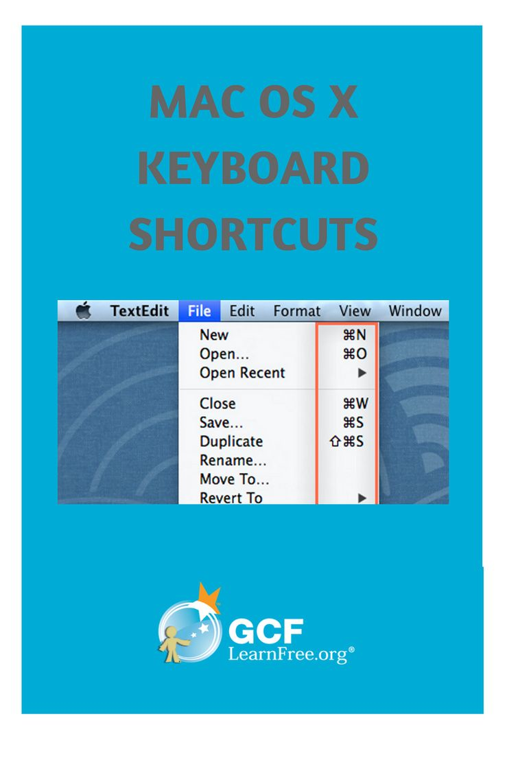 Using a Mac? Try these keyboard shortcuts.