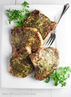 Sous Vide Herb Rubbed Pork Chops (via @ameecooks)