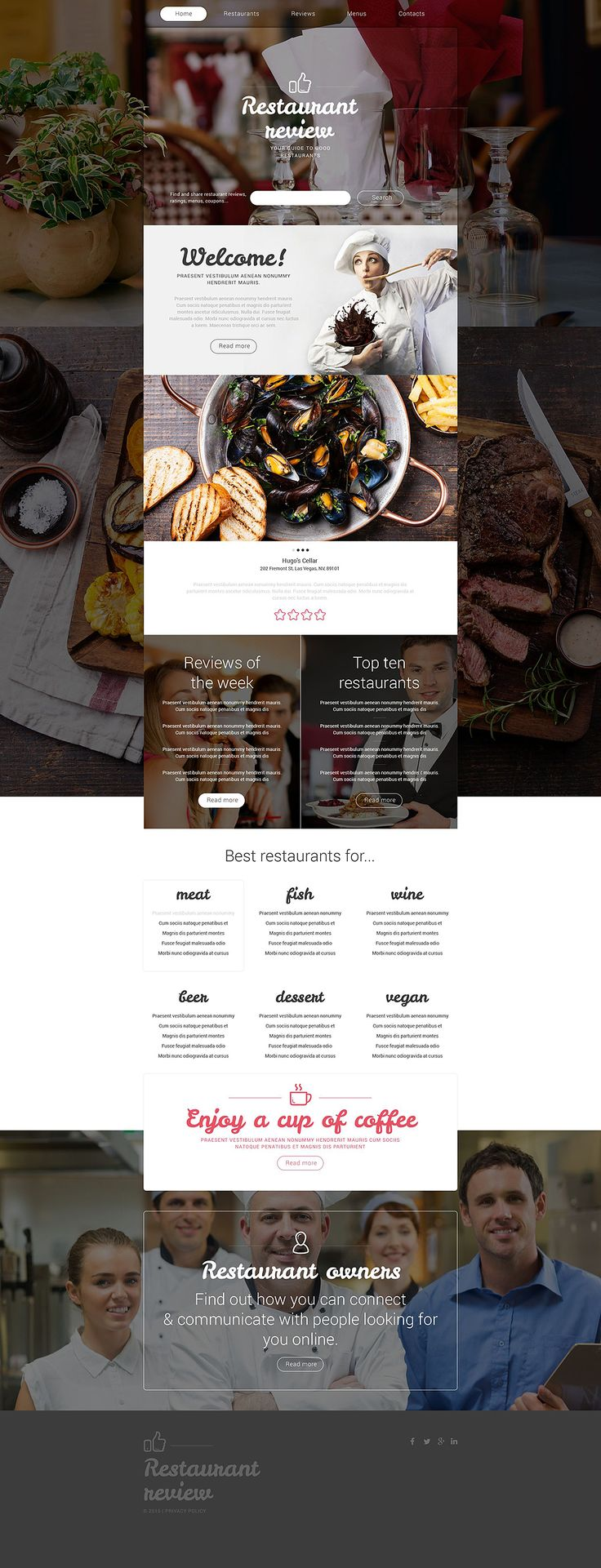 Restaurant Best Website Template 2015