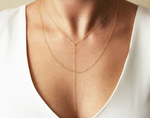 Double Wrap Necklace / Double Chain Necklace / by TatianaKatzoff