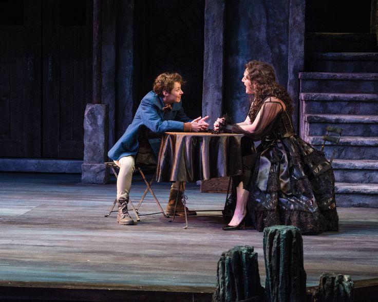 "Nell Geisslinger as Viola/Cesario and Melinda Pfundstein as Olivia in Utah Shakespeare Festival's 2014 production of ""Twelfth Night."" (Photo by Karl Hugh. Copyright 2014 Utah Shakespeare Festival.) www.bard.org, #utahshakes, #twelfthnight"