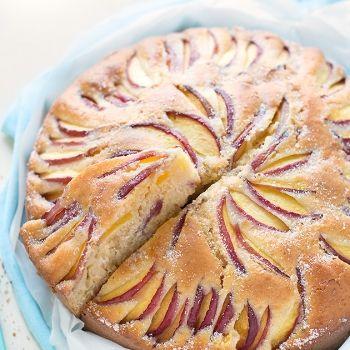Torta alle pesche soffice con yogurt - Ricetta Torta alle pesche soffice - Torta…