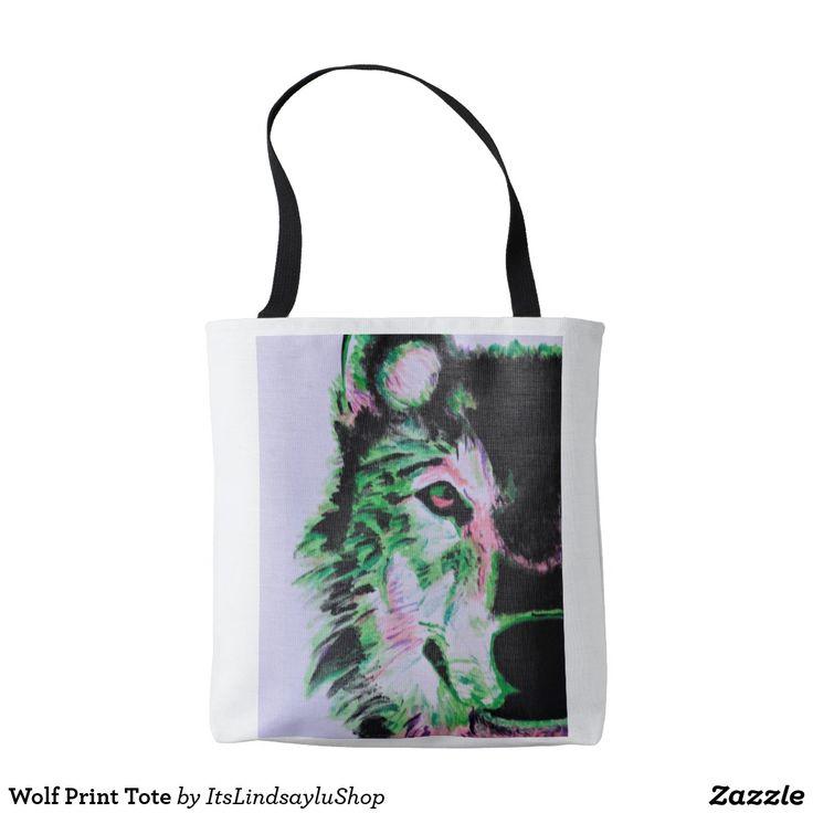 Wolf Print Tote