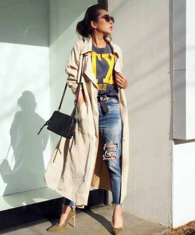 夏の終わりに。秋冬のファッションアイテムガウントレンチコートを集めました!