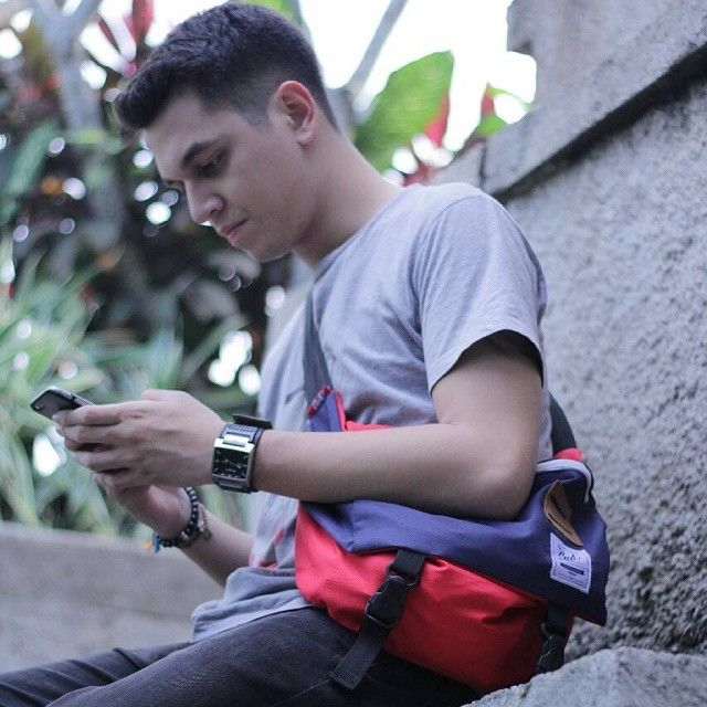 Thanks to @kevinjulio1993 for using our product, Cub Messenger Red-Navy, IDR: 250.000, For order don't be shy to contact us right here: Whats App/Phone Call: +6287722077877, Line: sfkgoods, BBM: 7da65779, #cubdignity #cub #messengerbag #kevinjulio #gantenggantengsrigala #bag #messenger #localbrand #ggs #vsco #vscocam