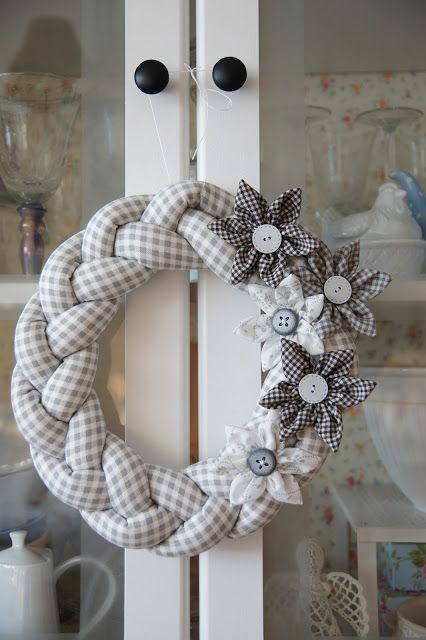 Beautiful Braided Fabric Wreath.