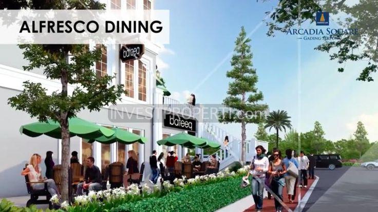 Alfresco Dining di ruko Arcadia Square Gading serpong