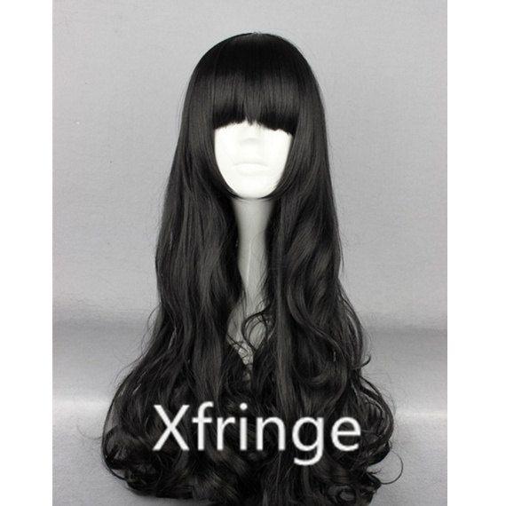 Long Black Curly Wig Black Cosplay Wig Curly RWBY Blake by xfringe, $14.99