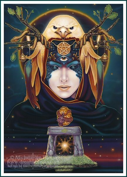 """destiny"" - dreams of gaia tarot, michele-lee phelan. (not part of my collection - yet!)"