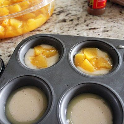 Mini peach cobblers, Must try these with other fruits too! I just made these and they are awesome and easy!