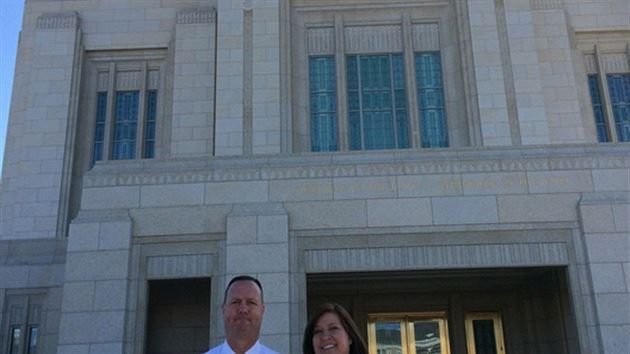 Local family 'March-es' to the temple