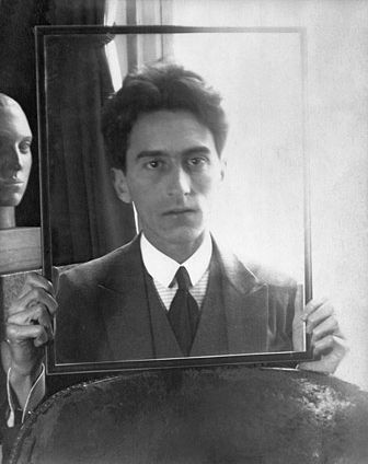 """Man Ray, Portrait of Jean Cocteau, 1922"" (http://proustitute.tumblr.com/#)"