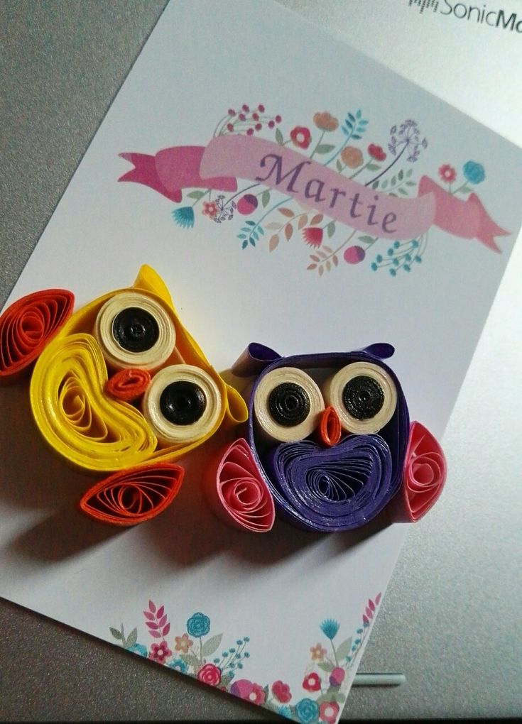 #owls #quilling
