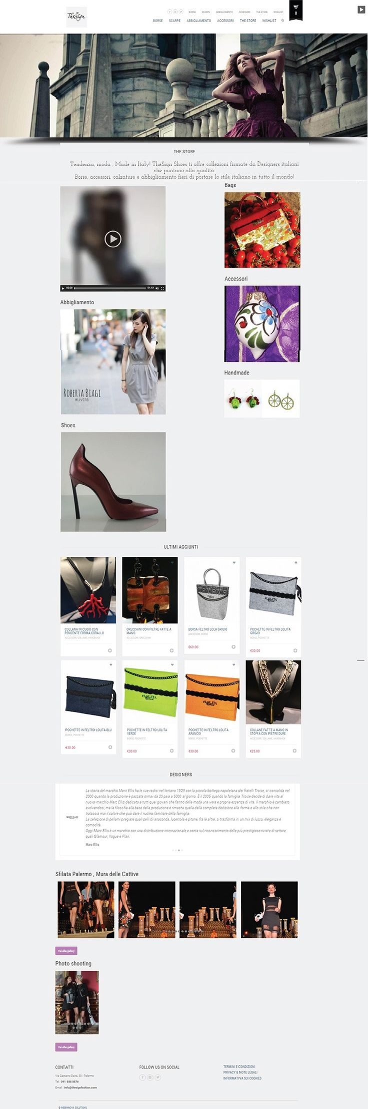 Sito #web realizzato con #Wordpress per The Sign Fashion #fashion