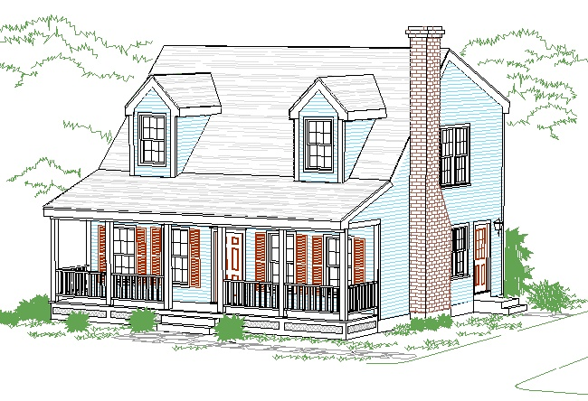 Top 25 ideas about cape cod house with a porch on for Side porch house plans
