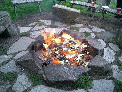 Fire Pit...FIRE!: Fire Pits, Fire Pitfir, Rocks Fire Pit, Outdoor Fire Pit, Fire Pit Design, Outdoor Gardens, Backyard Fire Pit, Firepit, Inground Fire
