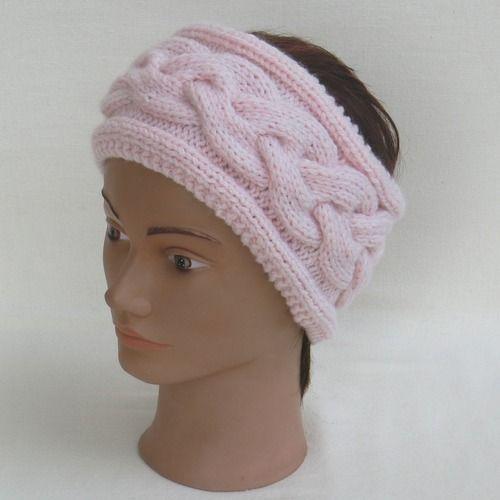 Bandeau femme, point irlandais,bandeau à torsade,cache oreilles, bandeau en  laine d7c94612649