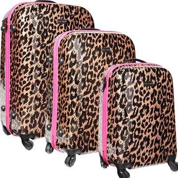 Cheetah Luggage Set.
