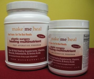 Make Me Heal Plastic Surgery Healing Supplements & Vitamins Kit