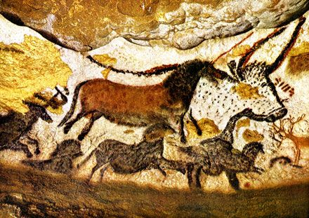 I've had this image from Lascaux on my walls for many years.  When I got to know the przewalski horses well, I gained a real connection to these ancient shaman-artists.