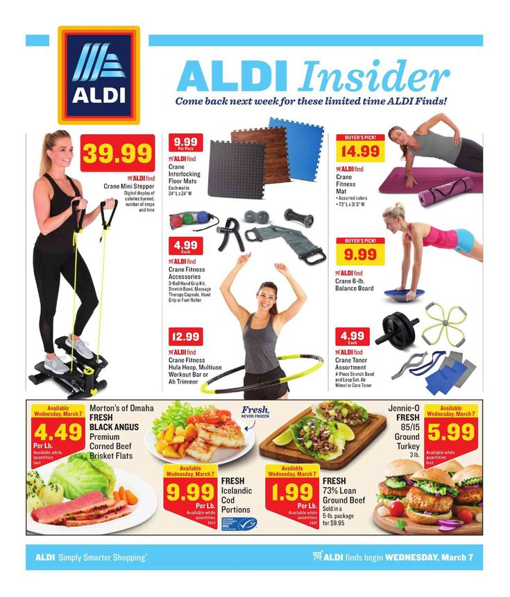 Aldi Weekly ad March 7 – 13, 2018 – Browse Aldi ad Specials and Weekly Fresh Meat Specials from Aldi here. find digital coupons, Aldi weekly specials, Recipe & Bakery Menu Prices, grocery savings, Aldi store location, sale prices, deli, and the great deals from aldi.         ...