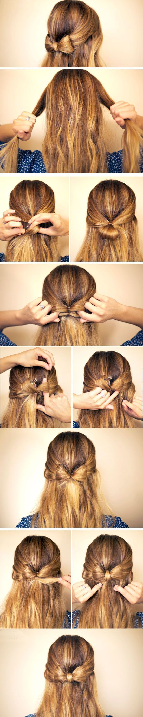 Hair Bow | Click Pic for 23 Step by Step Hairstyles for Long Hair | DIY Hairstyle Tutorials for Long Hair