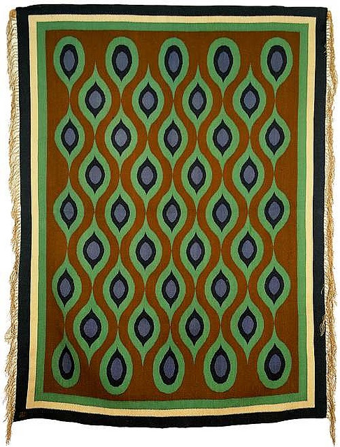 Carpet design by Jozef Czajkowski, produced in 1900 __ posted on flickr by John Hopper/The Textile Blog
