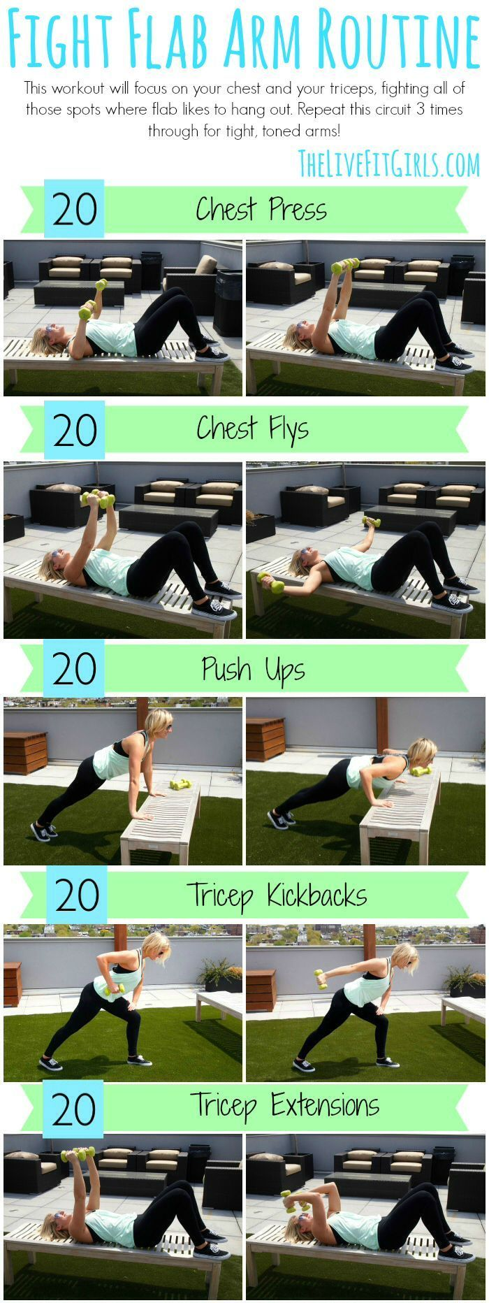 Fight Flab with this toning Arm Routine!  | Posted by: YourCustomWeightlossProgram.com