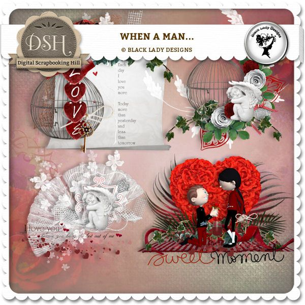 When a man... - Clusters by Black Lady Designs : DSH: Digital Scrapbooking Hill - high quality CU and PU elements, exclusive products, kits, freebies and more...